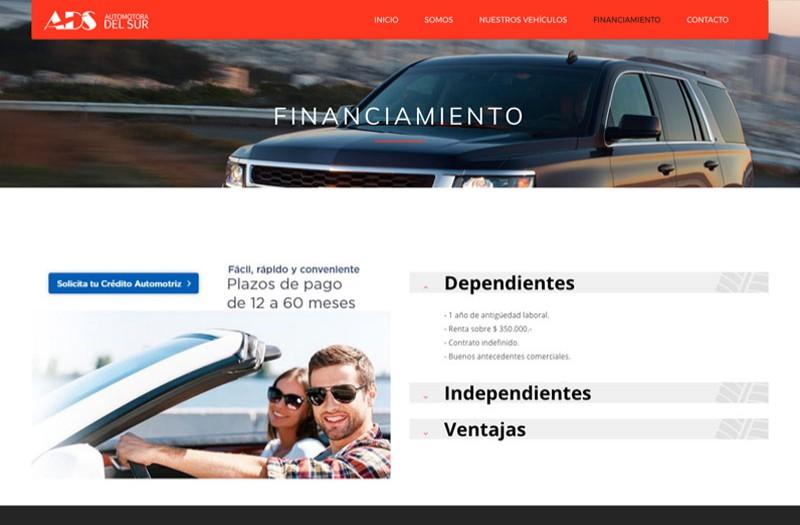 Automotora del Sur - WDesign - Diseño Web Profesional