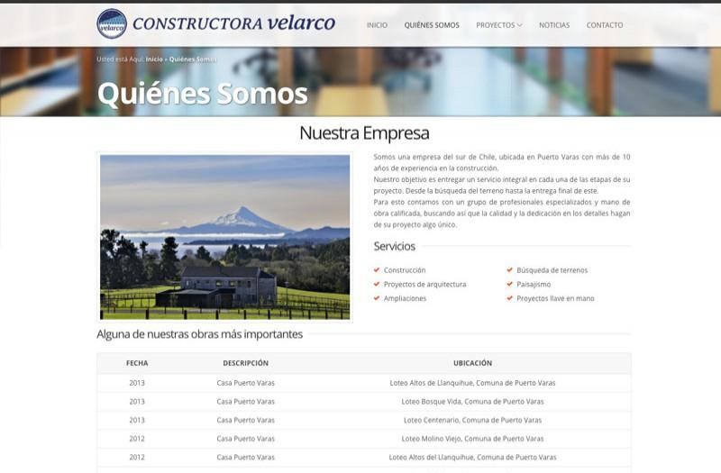 Constructora Velarco - WDesign - Diseño Web Profesional